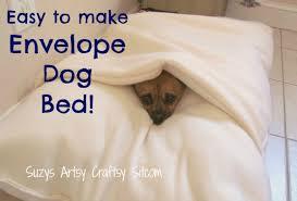 Covered Dog Bed Make A Cool U201cenvelope U201d Dog Bed