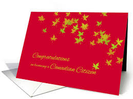citizenship congratulations card congratulations on becoming canadian citizen maple leaves card