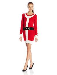 amazon com blizzard bay juniors santa christmas sweater dress