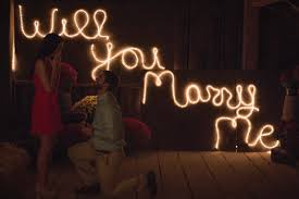 will you marry me signs in lights taylor and jason s proposal story featured on proposals happy