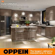 thermofoil kitchen cabinet colors guangzhou kitchen cabinet factory modern dark color high gloss