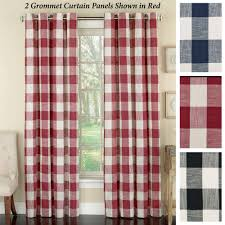 window curtains drapes and valances touch of class checkerboard grommet curtain panel