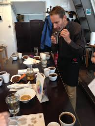 a cupping session in vienna furth kaffee from coffee with love