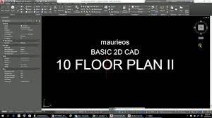 maurieos basic 2d cad 10 floor plan ii more wall lines youtube