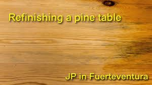 how to stain pine table how to refinish a pine table