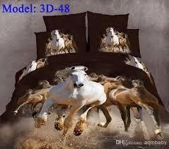 3d Bedroom Sets by 3d Gallop Horse Animal Comforter Set Queen Bedding Set 100 Cotton