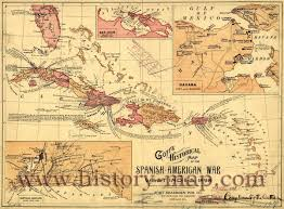 Puerto Rico United States Map by Spanish American War 1898 Where The Last Two Remaining Spanish