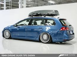 volkswagen wagon slammed awe tuning mk7 golf sportwagen 1 8t exhaust suite awe tuning