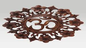 om hand carved wooden wall hanging youtube