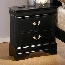Black Wood Nightstand Louis Philippe Black Wood Nightstand A Sofa Furniture