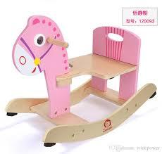 Toy Chair Wooden Rocking Horse Animal Kid Chair Children Baby Vintage Rocker