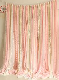 fabric backdrop blush pink white lace fabric gold sparkle photobooth backdrop