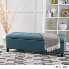 Threshold Settee Bench by Mission Tufted Fabric Storage Ottoman Bench By Christopher Knight