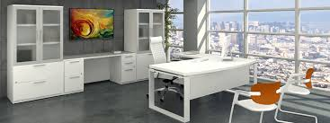 Modern Executive Desks by Office White L Shape Office Desk And Executive Chair Also White