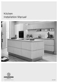 how to fit howdens corner fillet howdens 931 installation manual pdf manualslib