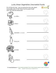 holiday 4 unscramble green vegetables coloring and worksheet