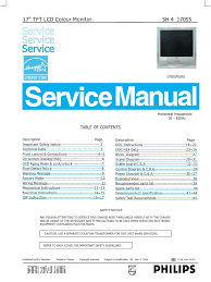 philips lcd monitor 170s5 chassis sh4 service manual pixel