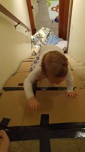 stair slide becomes a climbing wall the chirpy toddler