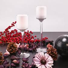 Christmas Lights In A Vase Blog Snow Frosted Christmas Candle Holders Vase Market