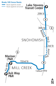 Blue Line Metro Map by Snow Routes