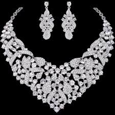 silver bridal necklace images Bella 2015 new luxurious bridal jewelry set silver multi leaf jpg
