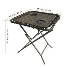 Mesh Patio Table by Portable Folding Side Table With Mesh Drink Holders Patio Garden