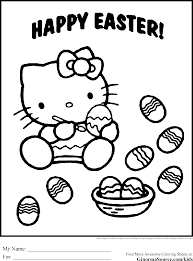 coloring pages hello kitty easter eggs ginormasource kids