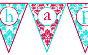 colors free printable happy birthday banner templates free