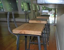 reclaimed wood stool etsy