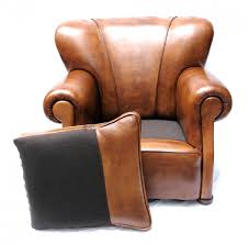 art deco dutch leather club chair for sale at pamono