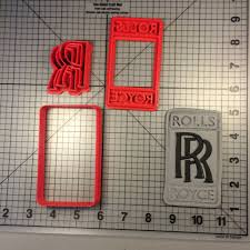 roll royce logo royce logo 100 cookie cutter set