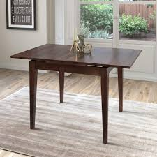 corliving dillon cappuccino stained wood extendable dining table