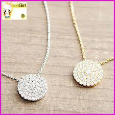 ebay necklace silver images Hot new products for 2015 ebay high quality round plain cubic jpg