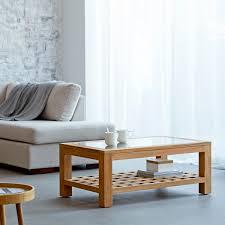 teak coffee table kwad rectangular coffee table 100x60 tikamoon