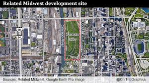 Chicago Loop Map by Map Development Site Near South Loop And Chinatown Chicago Tribune