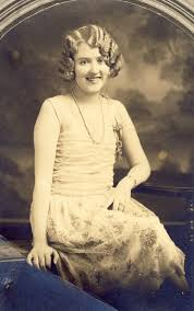 roaring 20 s fashion hair young woman flapper in stylish roaring 20s dress and hair photo