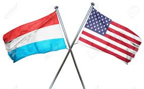 Comoros Flag Luxembourg Flag Combined With American Flag Stock Photo Picture
