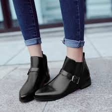 womens boots low heel wholesale 2015 autumn shoes low heel martin ankle flat