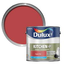 dulux kitchen pepper red matt emulsion paint 2500ml departments