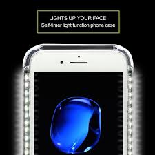 Light Up Iphone Charger Led Light Up Selfie Case Power Bank Ring Hold Cover For Apple