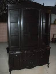 French Country Buffet And Hutch by Amelia French Country Buffet U0026 Hutch Display Cabinet Black