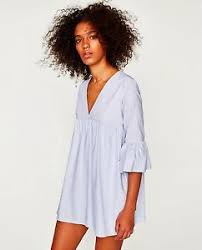 zara jumpsuit zara jumpsuit dress with ruffled sleeves playsuit blue mini