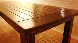how to make a dinner table building a dining table home plans