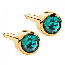ear piercing studs birthstones gold plated ear piercing studs