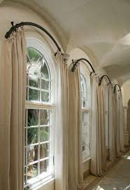 curtains with curved panels arched window treatments stunning