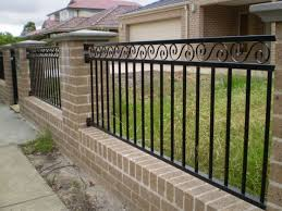 The  Best Brick Fence Ideas On Pinterest Stone Fence Front - Home fences designs
