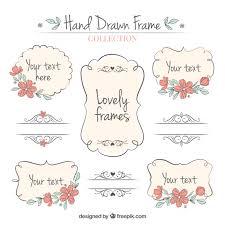 set of ornamental frames vector free