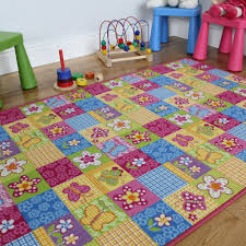 Colorful Kids Rugs by The Rug House Colourful Fun Butterfly Patchwork Girls Rug Pink