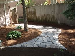 grassless backyard landscaping ideas mulch and compost around
