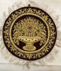 wall hanging wall decoration indian wall carpet hand embroidered